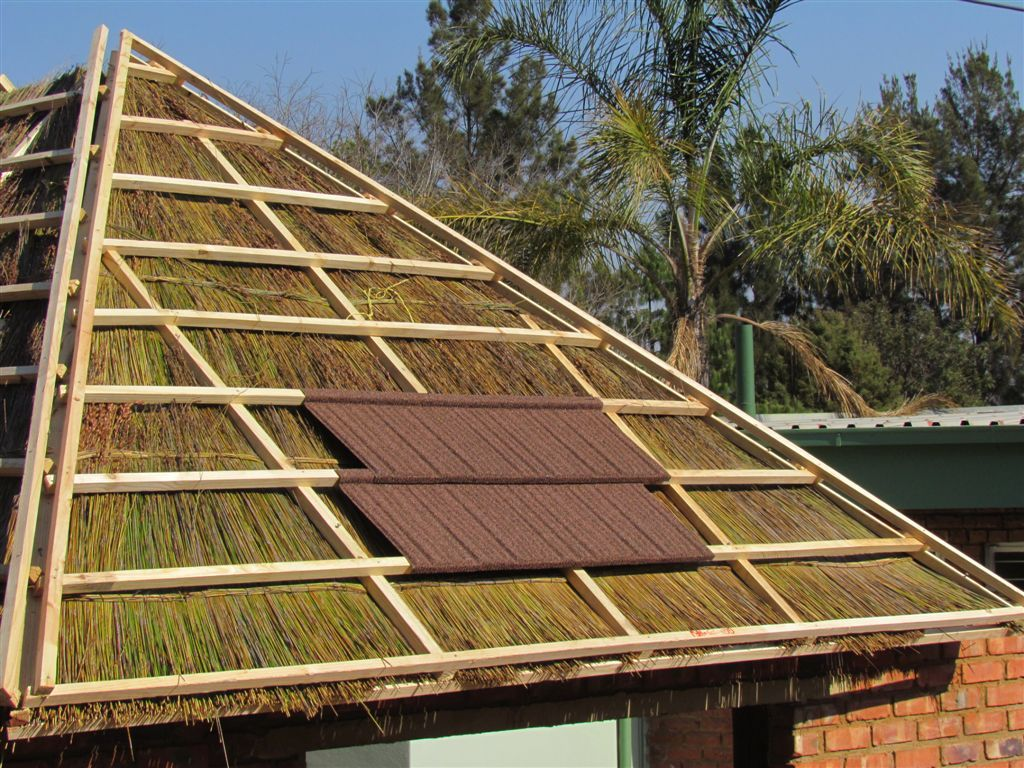 See How Lightweight Woodshake Thatch Is Fitted Over