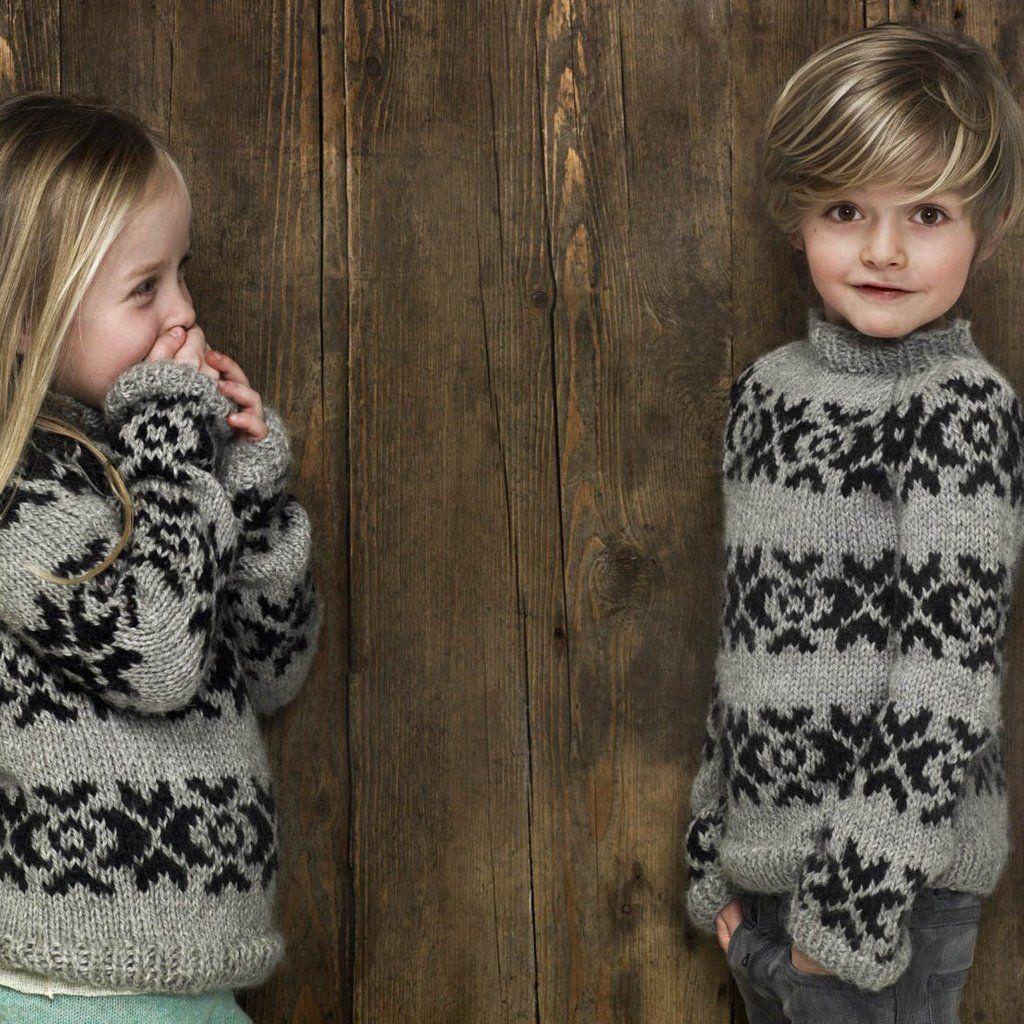 Faroese Jumper Knitting Patterns : Hand knitted Faroese Alpaca wool sweater 2-12 years Alpaca wool, Wool sweat...