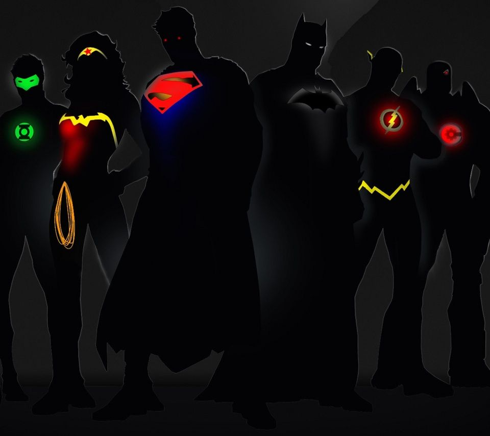 Justice League in the Shadows Superhero wallpaper