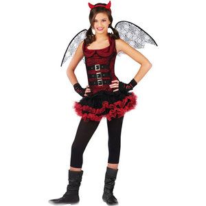 night wing devil teen halloween costume size teen girls one size - Girls Teen Halloween Costumes