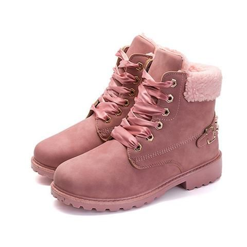 62fc70fc51d3 Women's New Lace Up Winter Boot- Grey, Pink, Yellow Fashion, New, Hot,  Comfortable, Comfy, Stylish, Cute Winter Ankle Knee High Website For Fall  Combat ...