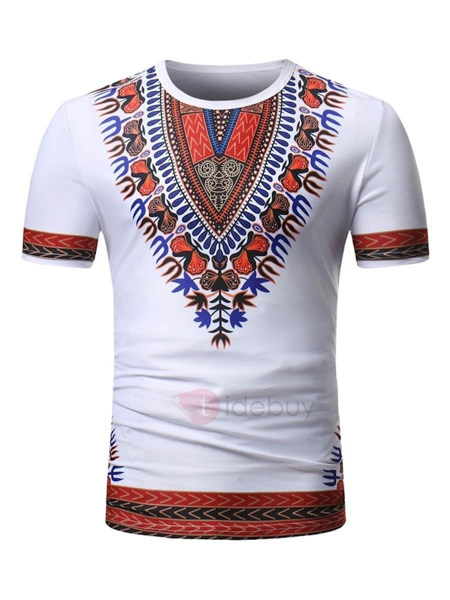 40f0cde7082  AdoreWe  TideBuy -  TideBuy Tidebuy Dashiki African Print Mens Short  Sleeve T-Shirt - AdoreWe.com