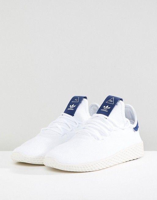 0582d7ac204 adidas Originals - Pharrell Williams Tennis Hu - Baskets - Blanc et ...