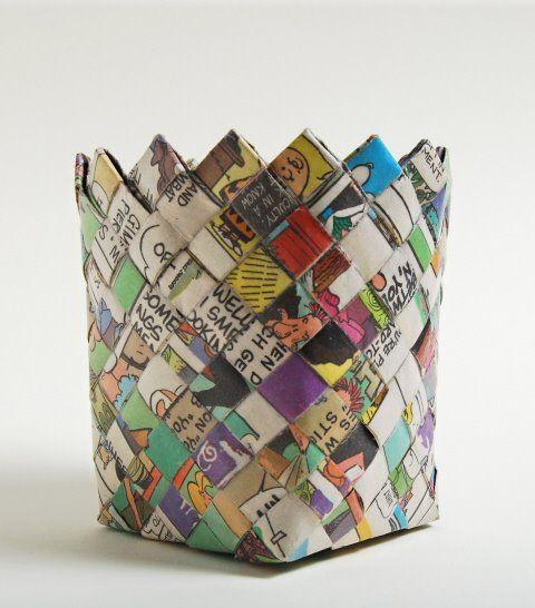 Открытка днем, плетение корзин из открыток