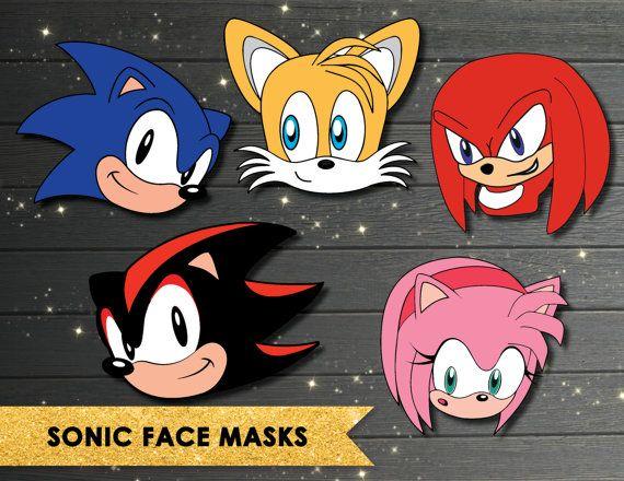 Máscara de Sonic Sonic el Hedgehog máscaras partido por Vintagefoil - fresh coloring pages of sonic the hedgehog