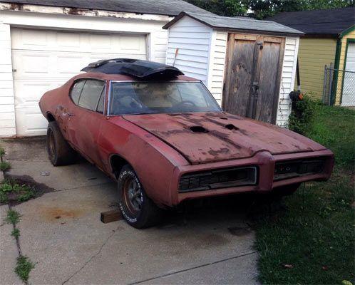 1968 Pontiac Gto Barn Find Muscle Car Barn Finds Pinterest