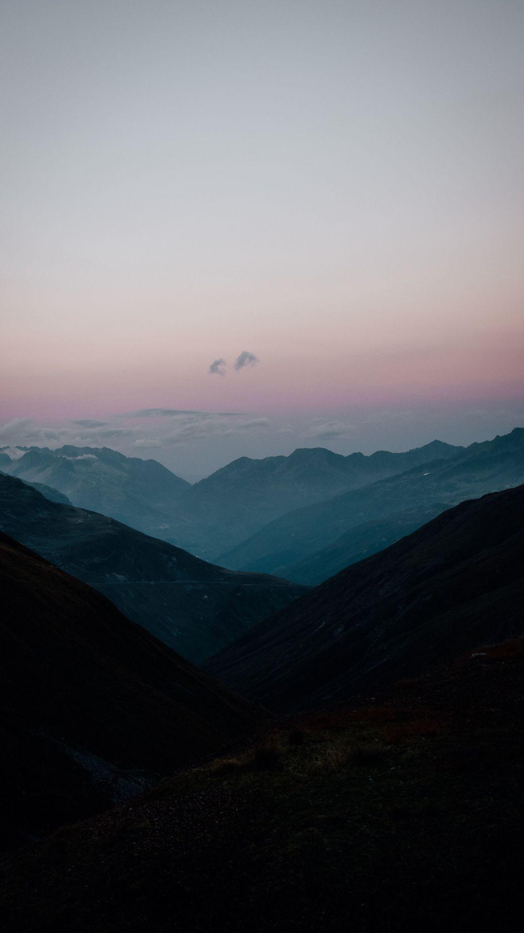 Peaceful Morning Horizon Sunrise Mountains 1080x1920 Wallpaper