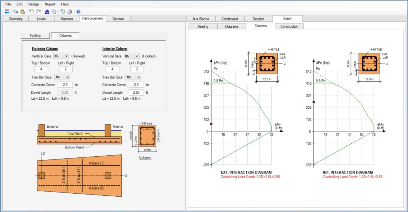 Best Software For Combined Footing Design Structural Engineering Software Design Engineering Design