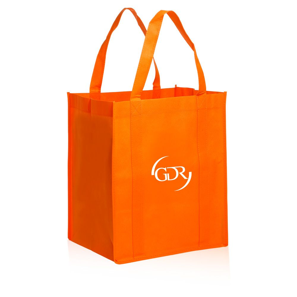 0cd5ce1924f Custom non-woven polypropylene reusable grocery bags in bulk cheap  wholesale prices. Our promotional tote bags can be printed with your logo  or graphic ...
