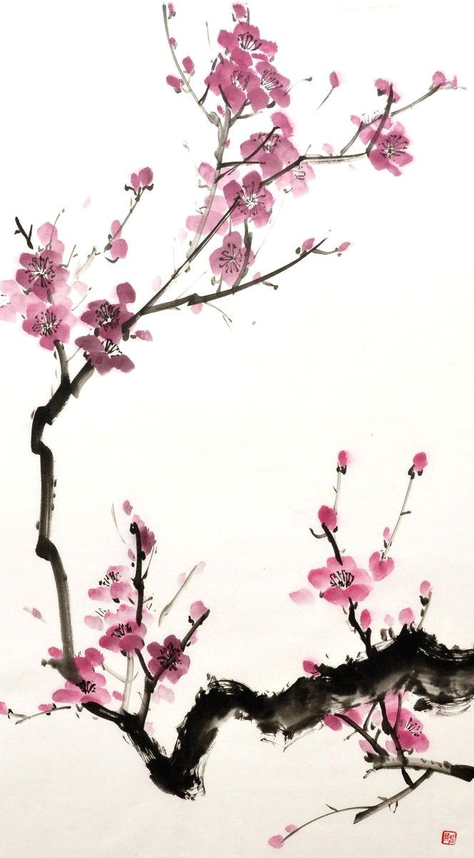 Epingle Par 미선 박 Sur 꽃 Peinture Chinoise Peintures