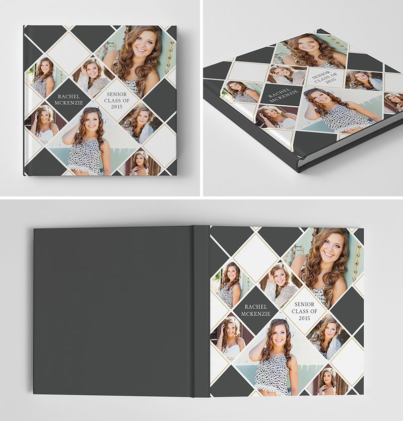 Senior Album Book Cover Template for Photographers #photoshop ...