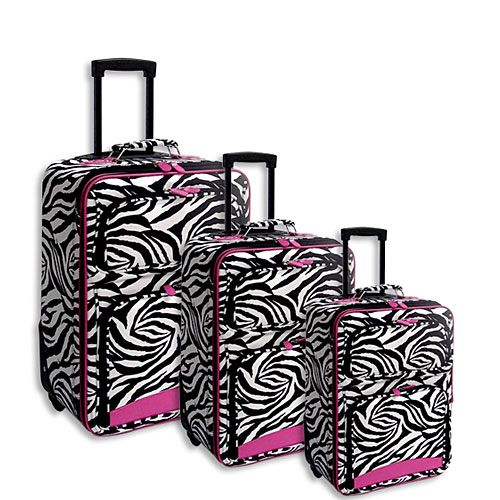 Pink Zebra Suitcase | Luggage And Suitcases