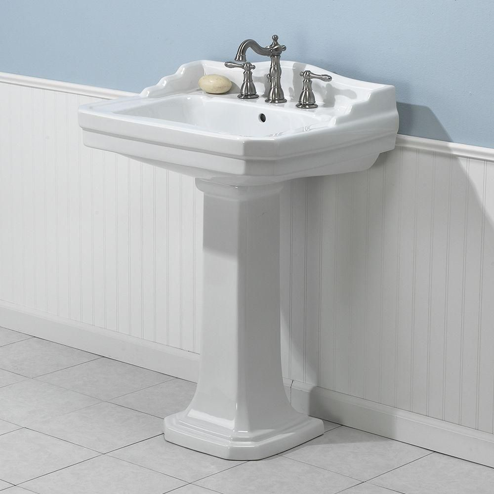 Foremost Series 1930 Lavatory And Pedestal Combo In White Fl 1930 8w With Images Nautical Bathrooms Lavatory Bathrooms Remodel