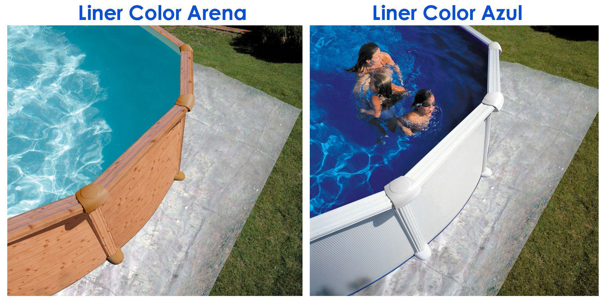 Colores de liner para piscinas desmontables muebles for Liner piscinas desmontables