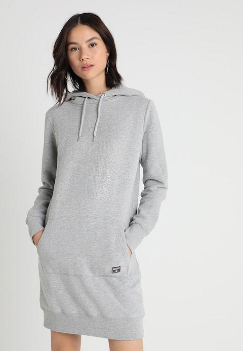 9fae2211f Superdry DEAKIN EMBELLISHED DRESS - Day dress - grey marl - Zalando.co.uk