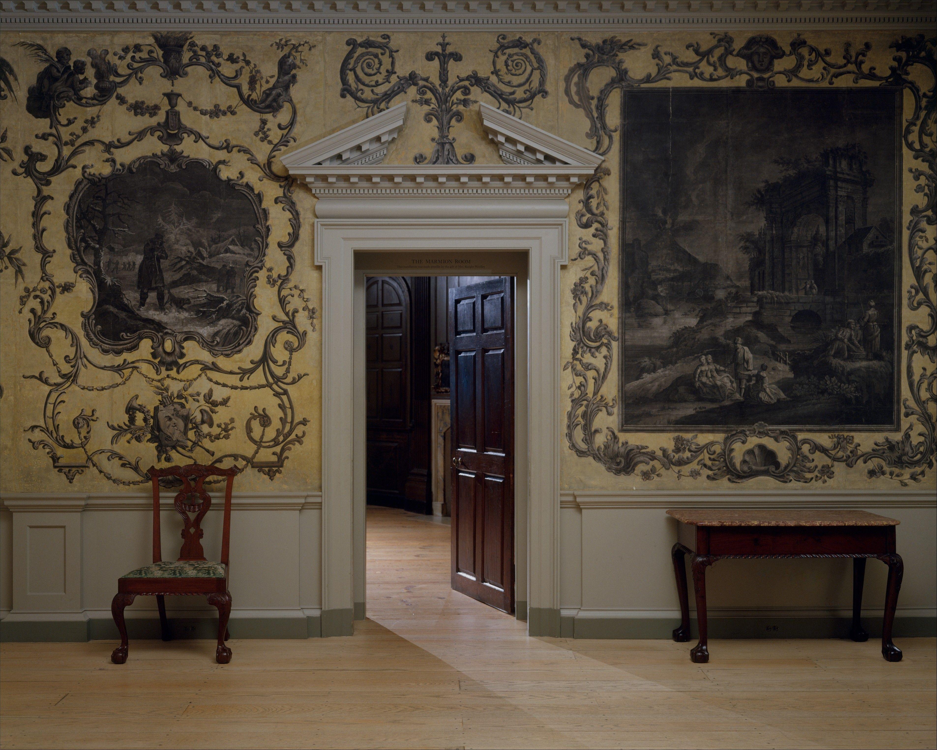 Door From The Great Hall Of Van Rensselaer Manor House Albany New
