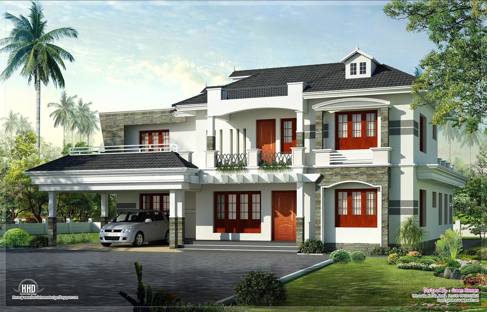 Amazing designs for new homes new kerala home on home for Exterior house designs indian style