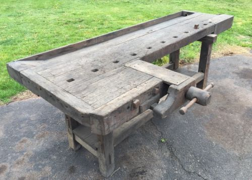 Pleasant Antique 19Th Century Huge Carpenters Workbench Vice Handmade Beatyapartments Chair Design Images Beatyapartmentscom