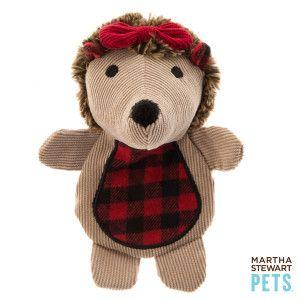 Martha Stewart Pets Flat Crackle Hedgehog Dog Toy Toys