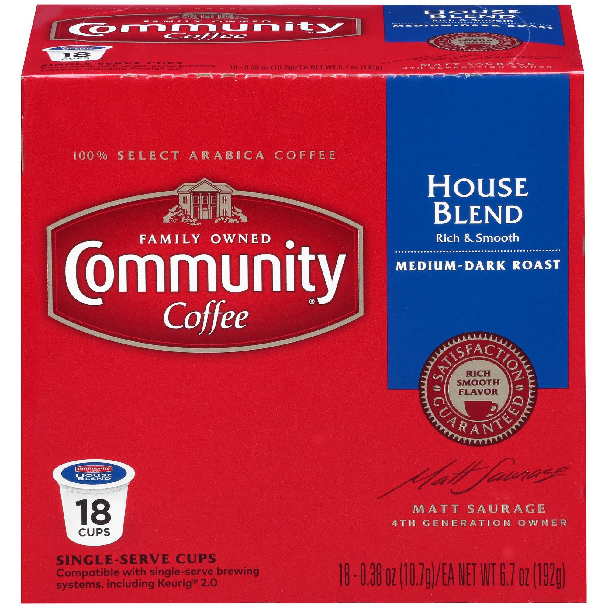 Community Coffee House Blend Medium Dark Roast Coffee