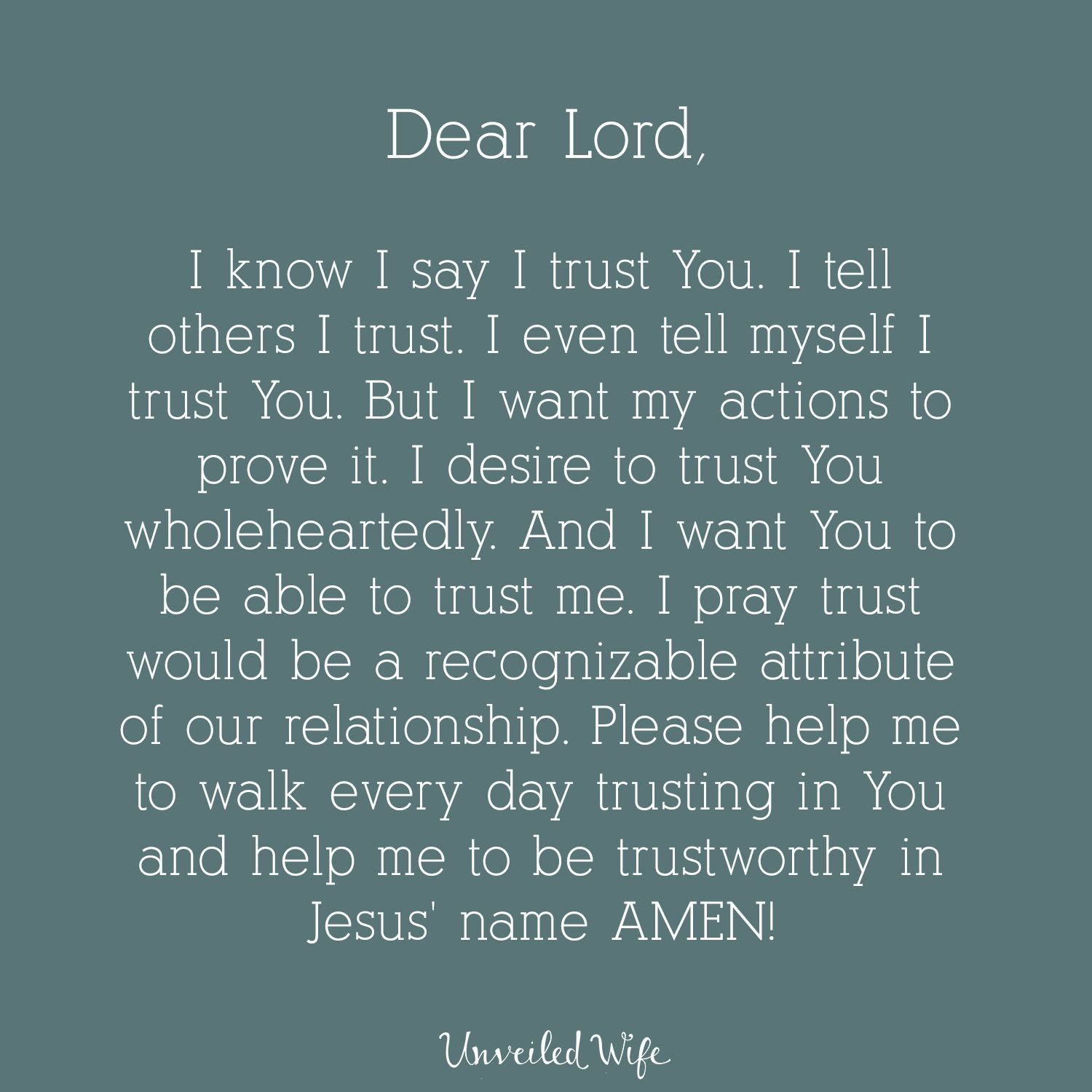 Prayer: Trusting In The Lord | Prayers | Prayers, Marriage