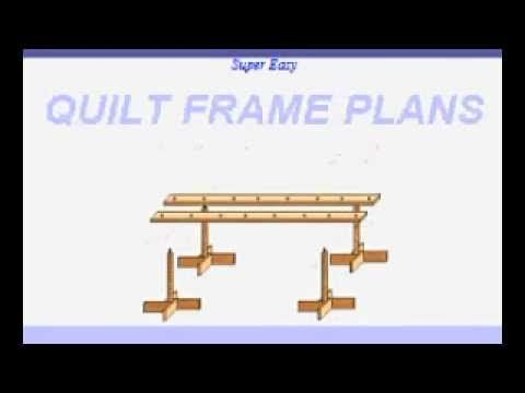 Easy Quilt Frame Plans | HOMESTEADING! | Pinterest | Quilting frames ...