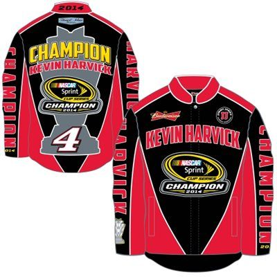 Mens Kevin Harvick Chase Authentics Black 2014 NASCAR Sprint Cup Series Champion Jacket