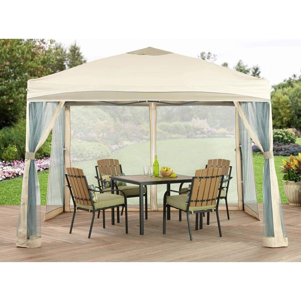 Gazebo Canopy With Mosquito Net 10 X 10 Outdoor Garden Patio Furniture New 1 Costco Gazebo Ideas Outdoor In 2020 Pavillon Ideen Pavillon Uberdachung Pergola Plane