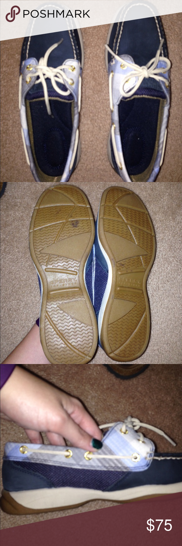 FLASH SALE Sperry intrepid plaid boat shoe Brand new never worn! Blemish on the bottom of the shoe was present when purchased. I believe these run slightly large. Open to reasonable offers made using the offer button. NO TRADES!! Sperry Top-Sider Shoes Flats & Loafers