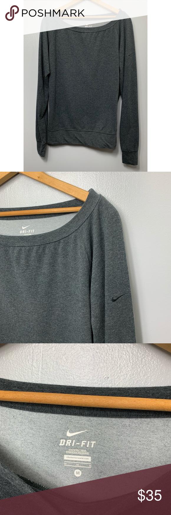 Nike Gray Pullover Crewneck Sweatshirt Grey Pullover Pullover Crew Neck Sweatshirt [ 1740 x 580 Pixel ]