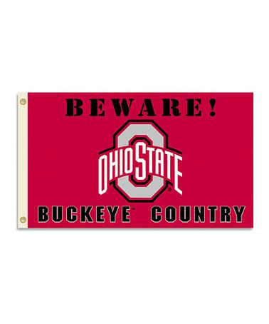 Love this Ohio State Buckeyes 'Country' Grommet Flag on #zulily! #zulilyfinds