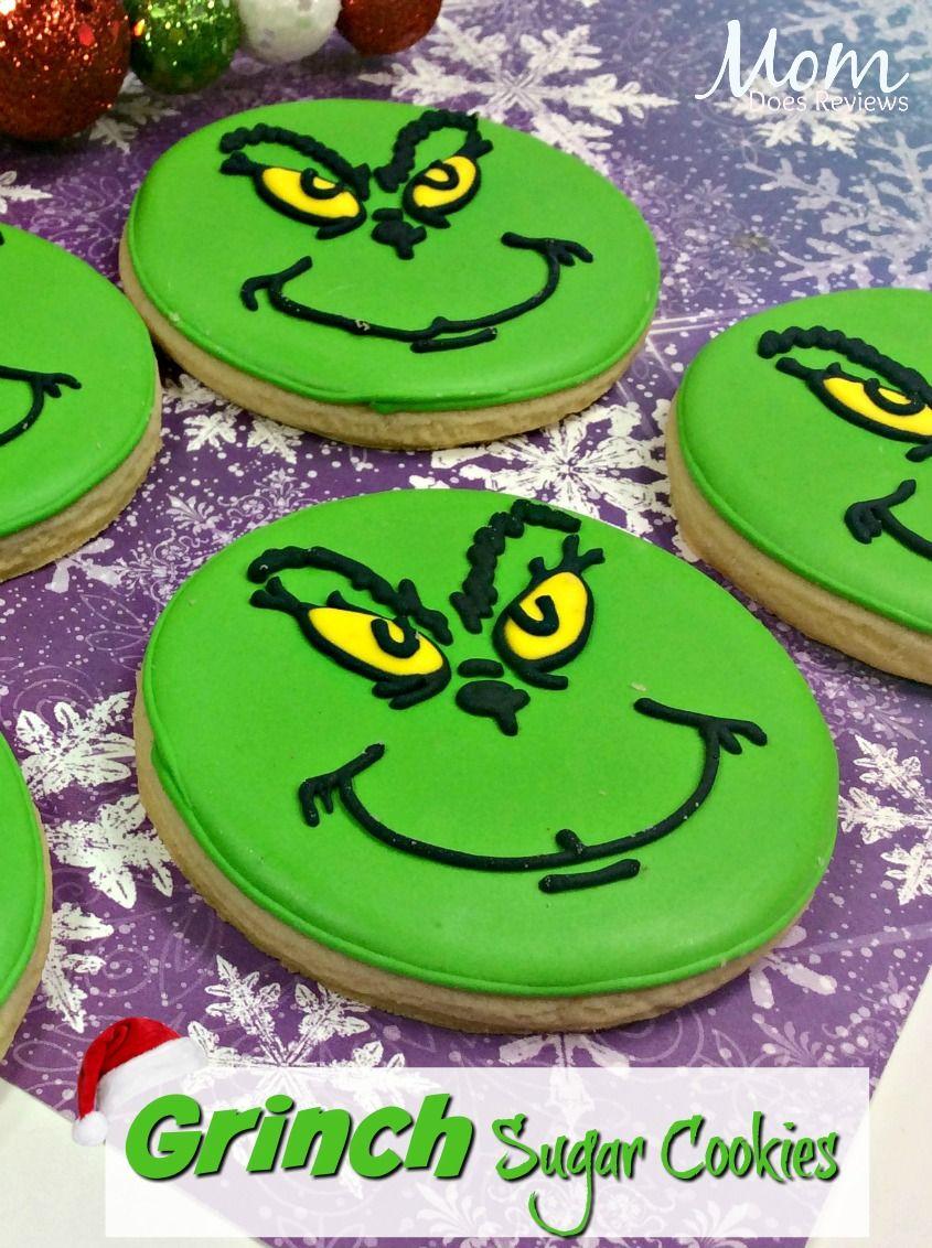 Grinch Sugar Cookies #TheGrinch #grinchcookies