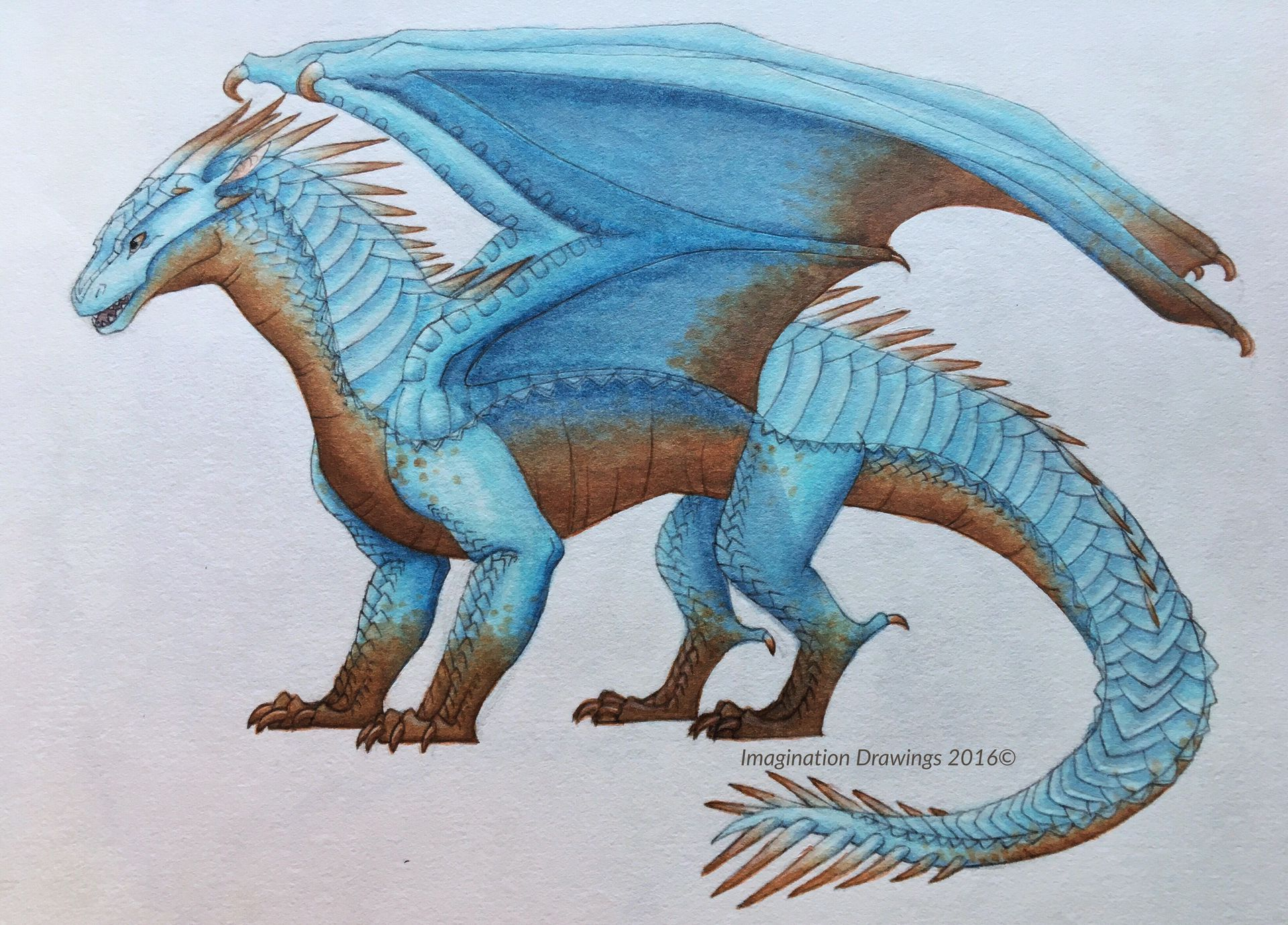 Imagination's Art Book 2015/2016 - IceWing/MudWing Hybrid in 2019
