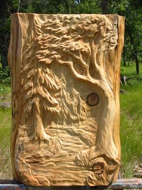 Landscape relief carving carving interest wood carving