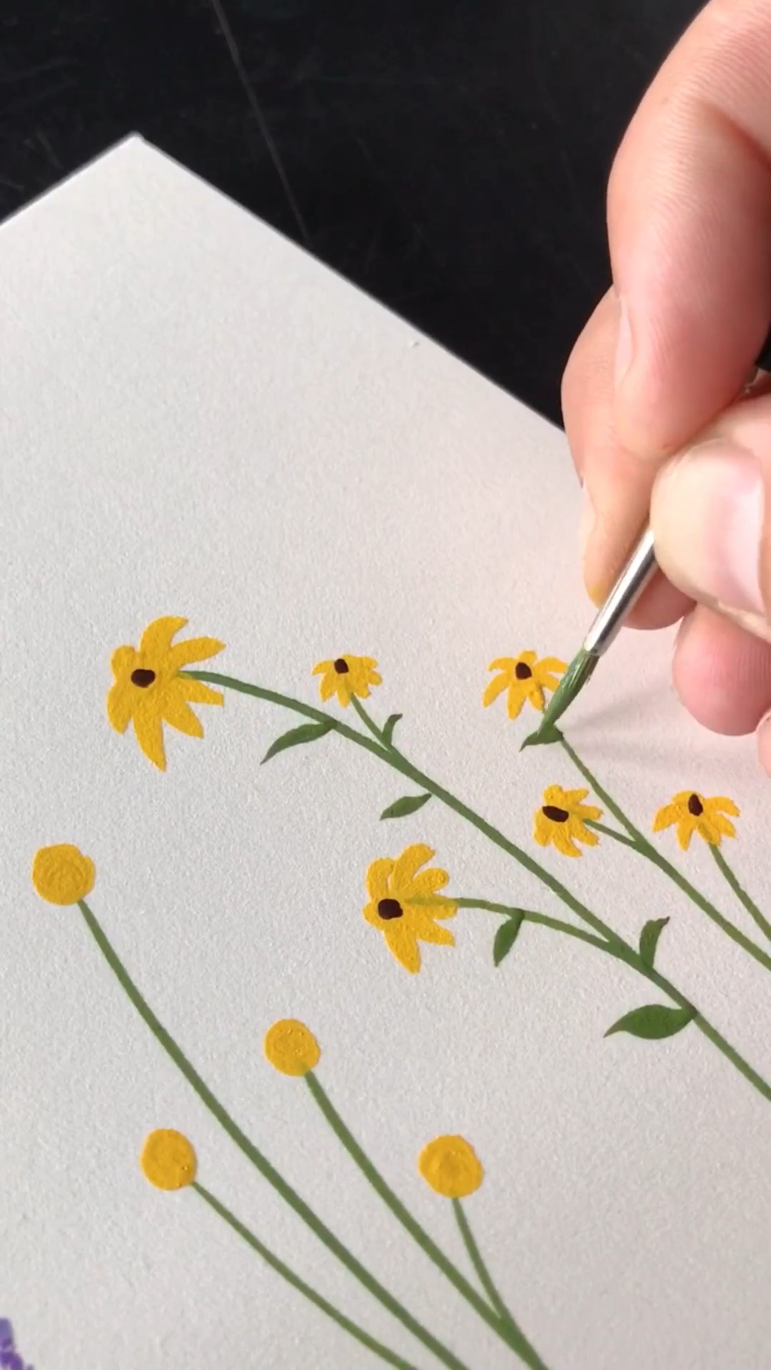 Little Wildflowers - Gouache Painting by Philip Boelter