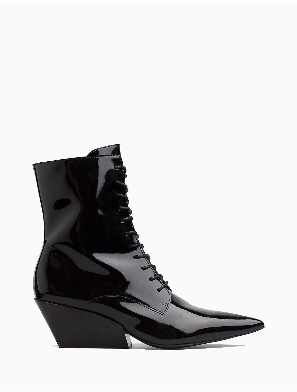 freda patent leather bootie   Calvin