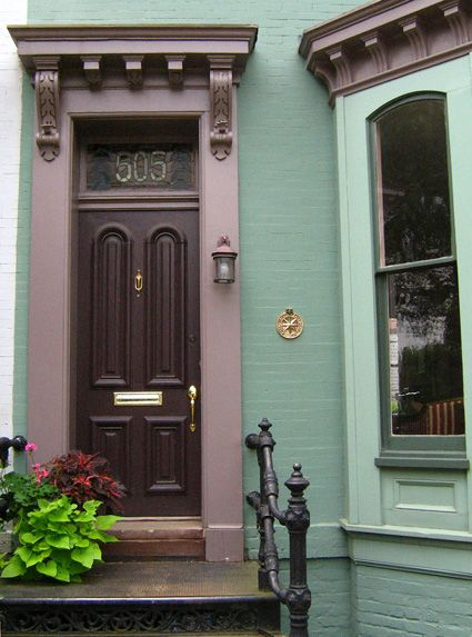 Stained glass house numbers above this door in Washington DC & Stained glass house numbers above this door in Washington DC ...