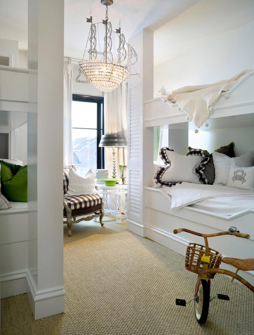 Elegant Bedroom with Built in Bunk BedsGreat for