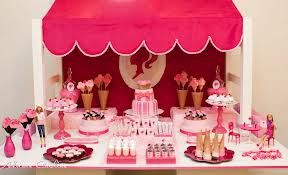 Excellent Barbie Themed Candy Buffet Getting Ideas For Olivias 4Th Interior Design Ideas Clesiryabchikinfo