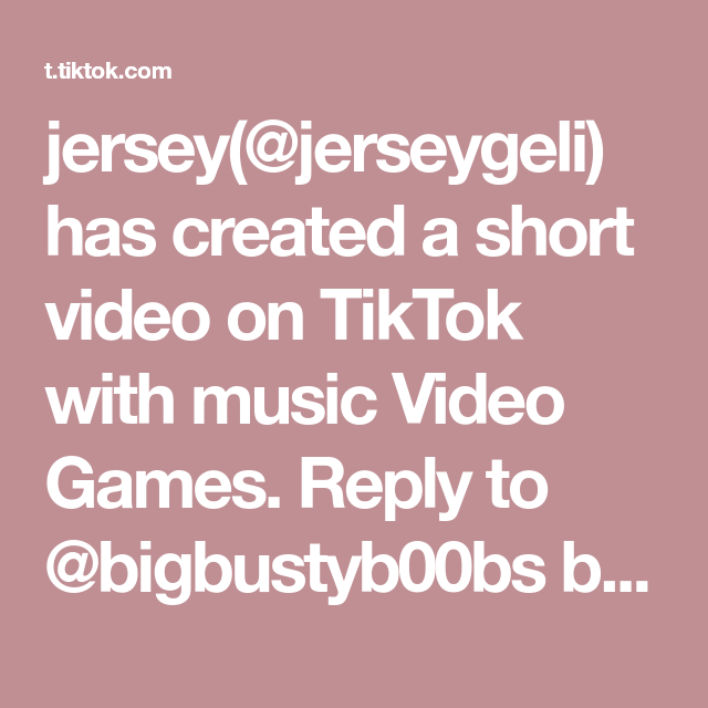 Jersey Jerseygeli Has Created A Short Video On Tiktok With Music Video Games Reply To Bigbustyb00bs Blue Ink Strikes Again Fyp Artist Lost Draft Posea