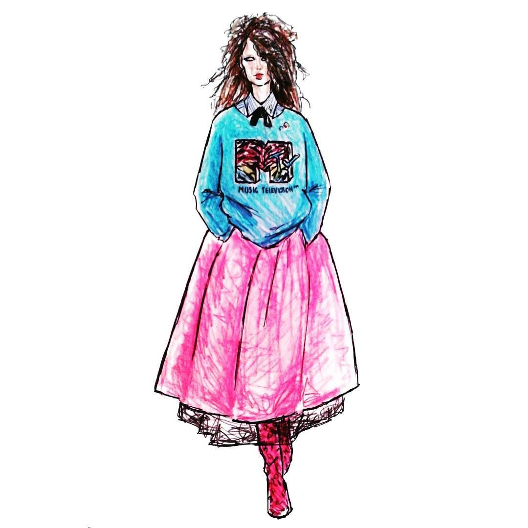 Marc Jacobs Resort 17 Illustrated By Soly Bowie Fashion Illustration Fashion Sketches Fashion