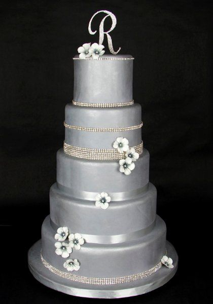 silver wedding cakes single tier silver wedding cakes mississippi wedding cake 5 tier 19892