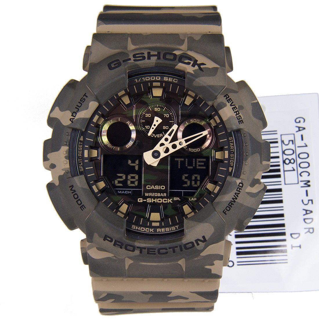 Casio gshock camouflage watch ga100cm5adr ga100cm g