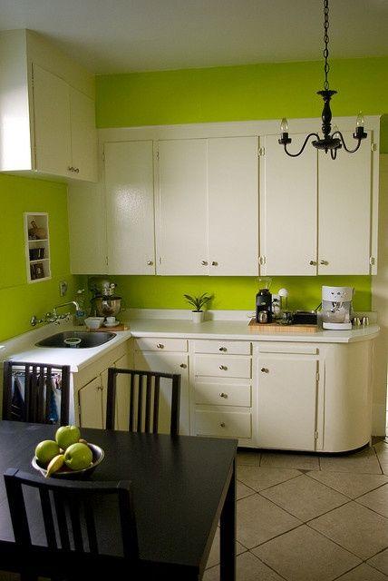 After Green Kitchen Walls Green Kitchen Green Kitchen Designs