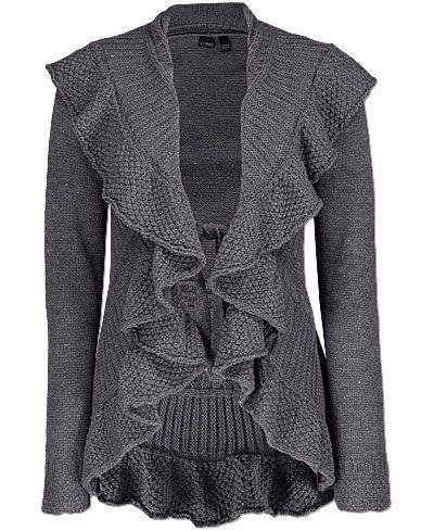 Daytrip Ruffle Front Cardigan Sweater  5f8ed144b