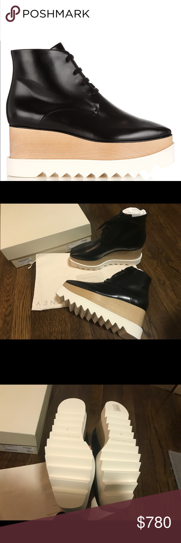 Stella McCartney 2016 Black Elyse Platform Boots Brand new and still in box! Size 36. Classic black color and never on sale!  Super cool ankle boots version. Stella McCartney Shoes Ankle Boots & Booties