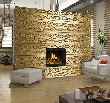 Oro y negro interior Paneles para paredes interiores Paredes