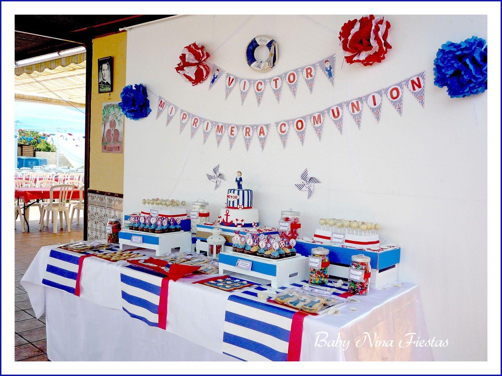 Mesa dulce comuni n marinera fiesta pinterest mesas dulces comuni n y dulces - Fiesta marinera decoracion ...