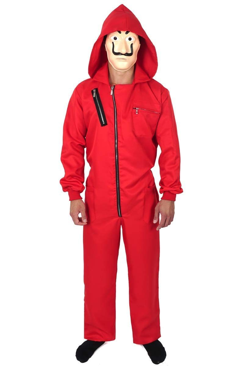 Haus Des Geldes Kostum Overall Mit Dali Maske Roter Overall Arbeit Outfit Overall
