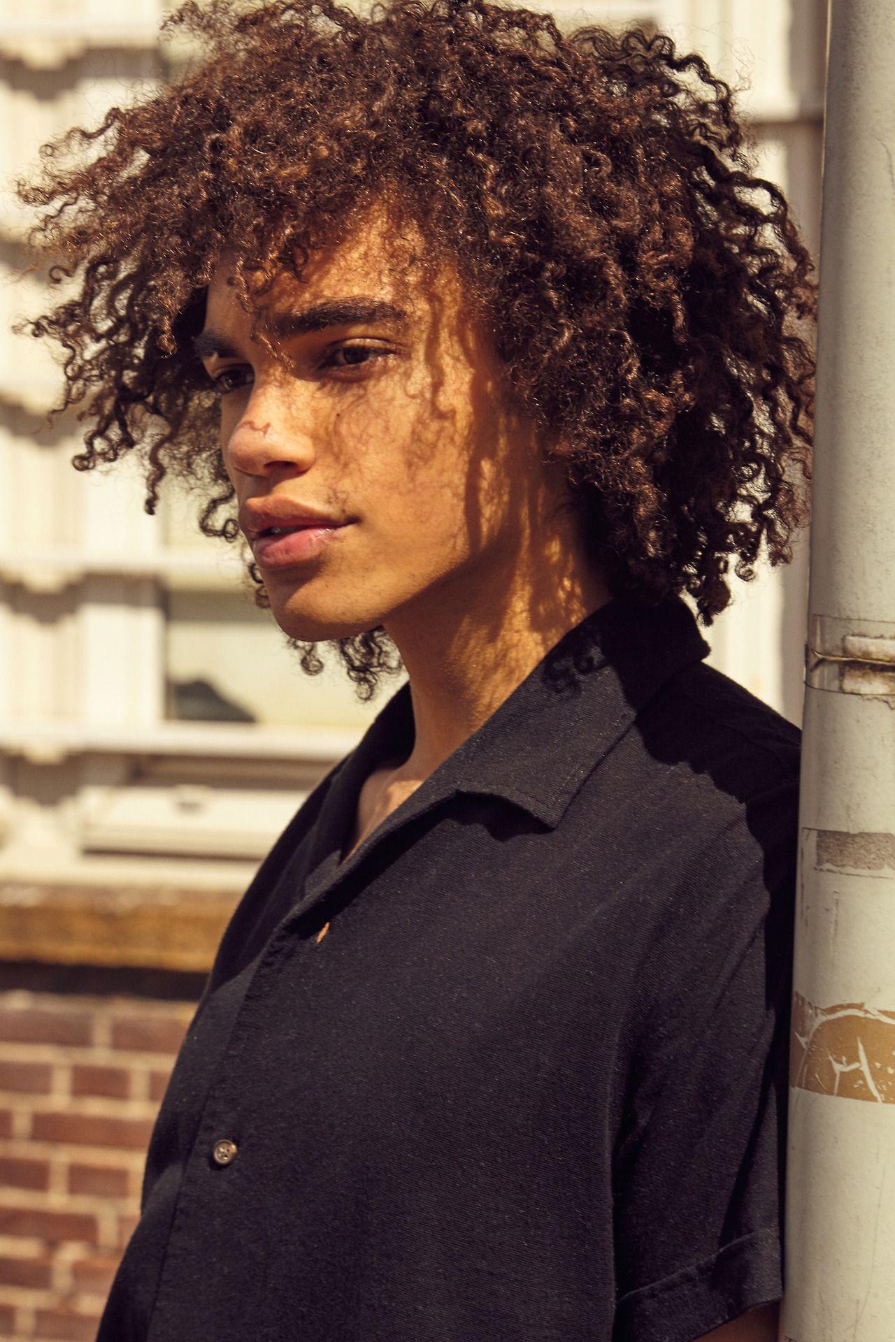 Pinterest Keraavlon Natural Hair Funky Afro Hair Style In 2020 Long Hair Styles Men Curly Hair Men Light Skin Boys